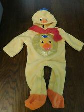 Baby Einstein Plush 1 piece Duck Duckling Infant Child Costume 0 to 3 months EUC