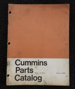 GENUINE 1965 CUMMINS JN-130-CI DIESEL ENGINE PARTS MANUAL CATALOG VERY GOOD