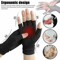 Copper Arthritis Compression Gloves Hand Support For Arthritic Joint Pain Relief