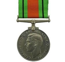 Original British WW2 Medal 1939-45 (1939 - 1945) Defence Medal FULL SIZE - SZ54