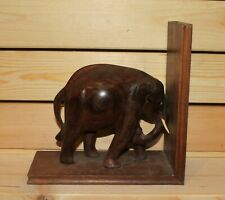 Vintage hand carving wood elephant figurine