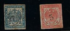 Transvaal: 1870; Scott 28-29, rouletted, good, Used, EBB170