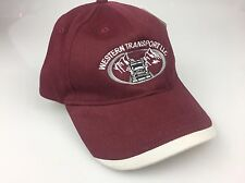 Western Transport Trucking Maroon Gray Hat / Cap New With Tag