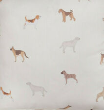 4 Metre Multi dog breed Fabric Cream/beige  background 100 % cotton 140cm wide