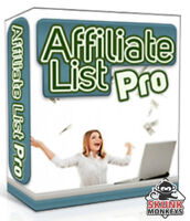 New Affiliate List Pro W/ Master Resell Rights + 10 Bonus Software W/ MRR PLR