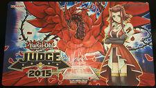 YuGiOh 2015 Judge Playmat 150th YCS Akiza Black Rose Dragon Rare! Unused Konami