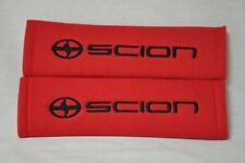 NEW Scion xA xB tC xD iQ FR-S RED Embroidery Seat Belt Shoulder Pads Set