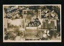 Somerset BATH Seasons Greetings M/view c1900/10s? RP PPC