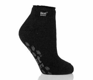 Heat Holders Ladies Slipper Socks GRIPPERS Anklet Black - NEW