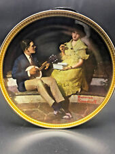 """Vtg Knowles Collector Plate Rockwell """"Pondering on Porch"""" True Classic Coa Box"""