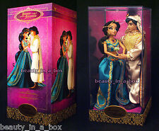 Jasmine and Aladdin Doll Set Disney Fairytale Designer Collection Princess INTL