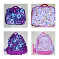 Gymboree Girls Backpack Lunchbox Rainbow Birds & Flowers NWT
