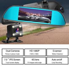 7 HD 1080P Dual Telecamera Dash Cam Specchietto Auto DVR Registratore Car DVR