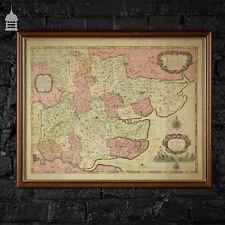 More details for vintage map of essex in an oak frame