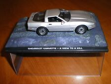 VOITURE COLLECTION JAMES BOND CHEVROLET CORVETTE DANGEREUSEMENT VOTRE