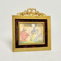 ANTIQUE HAND-PAINTED FRENCH MINIATURE SIGNED M. GUILLERMIN (LATE 19TH/20TH C)