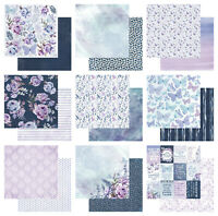 "Kaisercraft Amethyst 12x12"" - Double Sided Craft Scrapbooking Paper Purple Pink"