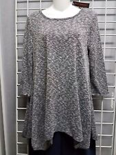 Pleats black and white marled sweater tunic, New with tags, XL