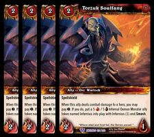 4x Torzuk Soulfang War of the Ancients Epic 157 World Warcraft WoW TCG Card Game