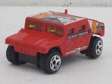 Hummer Nr.4 in rot mit Dekorstreifen, ohne OVP, Hot Wheels, 1:64
