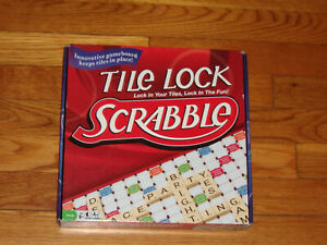 2011 HASBRO TILE LOCK SCRABBLE BOARD GAME MISSING 1 LETTER E