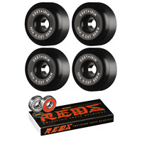 Mini Logo Skateboard Wheels 60mm A-Cut 101A Black with Bones Reds Bearings