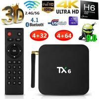 TX6 TV BOX Android 9.0 H6 4GB+64GB Bluetooth 4K Quad Core WiFi Home Audio Media