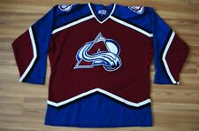 VINTAGE COLORADO AVALANCHE STARTER JERSEY SHIRT SEWN ON PATCHES MEN'S XLARGE