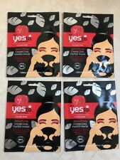 4 YES TO TOMATOES DETOXIFYING CHARCOAL ACNE BLEMISHES PORES PAPER FACE MASK LOT