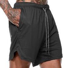 Men Sports Shorts Fitness Training Summer Running Pocket Workout Casual Pants