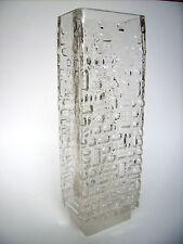 Gral Glas Vase Relief 25cm Emil Funke 60s op art Design West-Germany vintage