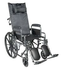 Silver Sport Reclining Wheelchair w/Detachable Desk Length Arms & Leg rest NEW