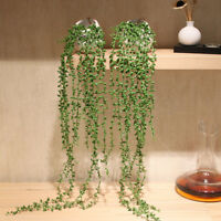Artificial Succulent Plants Green Vines Flower Hanging Rattan Home Wall Decor