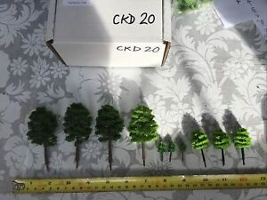 Z Scale   Set Of 10 Trees , Forest, Foliage, Scenery, Multiple Styles CKD20