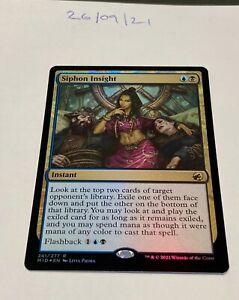Magic the Gathering MTG Siphon Insight x1 Rare FOIL Card NM/M