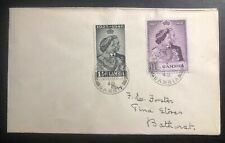 1948 Bathurst Gambia Cover Royal Silver Weeding King George VI & Queen Elizabeth