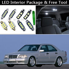 16PCS White Error Free LED Interior Lights Package kit Fit Benz C-Class W202 J1