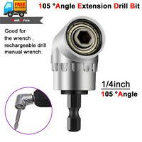 "105°Angle Extension 1/4inch 1/4"" Hex Drill Bit Screwdriver Socket Holder Adaptor"