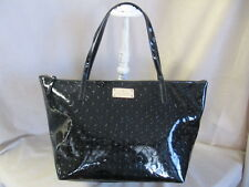 KATE SPADE SOPHIE STYLE ACE OF SPADES BLACK PATENT TOTE EXCELLENT CONDITION