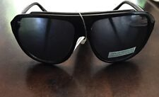 Benetton Black Aviators Brand New with case and tags