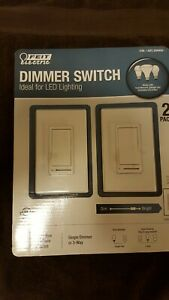 Feit Electric Dimmer Switch Two Pack Lighting New Single or Three Way Any Light