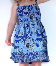 Robe Fille 3 - 4 ans Enfant Ethnique Batik Vêtement / bleu bleue