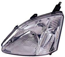 2002-2003 Honda Civic Hatchback New Left/Driver Side Headlight Unit