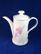 Kahla Porzellan große Kaffeekanne Kaffeeservice Form Rhapsodie 70er Lilien