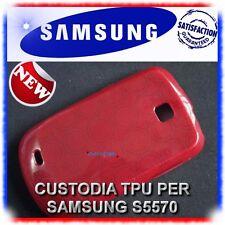 2X Pellicola+Custodia RED per Samsung Galaxy Next S5570 (B4)