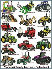 "AUSTRALIAN SITE: "" Modern & Trendy Tractors 3 "" ~ 16 Designs on a CD"