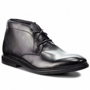 Clarks Mens Banbury Mid Black Leather Ankle Boots Size UK 10.5 G