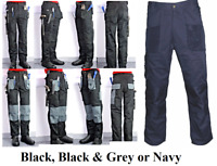 Blackrock Work Wear CARGO COMBAT KNEE PADS Trousers Multi Pocket Trade Pro Pants