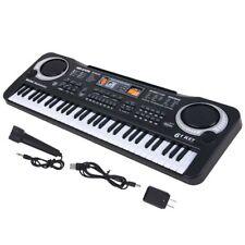 61 Key Digital Music Electronic Keyboard Kids Electric Piano Organ w/ Microphone