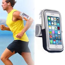 Universal Sport Running Riding Arm Band Case Holder Zipper Bag For iPhone X 8 7+